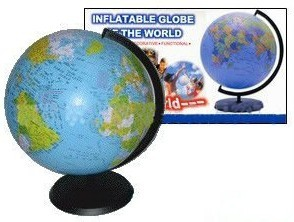 Fashion model inflatable world map