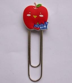 Office Binding Supplies plastic 3d soft pvc paper clip