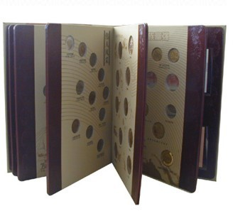 leather book cover for coin