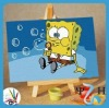 10x15cm kids DIY number SpongeBob SquarePants oil painting for gifts and education