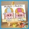 10x15cm kids DIY number oil painting for gifts and education