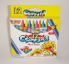 12 colors wax crayons