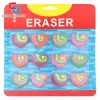 12pcs heart alphabet shaped promotional school rubber erasers set