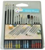15psc assorted artist brushes in a blister - Cheap painting brushes set
