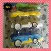 2012 NEW STYPLE OF CAR ERASER FOR PROMOTIONAL GIFT WITH BLISTER