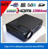 2200 Lumens 1280*800 Pixels LED Home Theater Projector with 2HDMI,DVBT+USB,TV,AV,S-video,VGA,YPbPR,