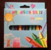 24 pieces crayons