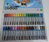 24color hexagonal oil pastel