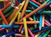 """3.5"""" plastic colored pencil"""