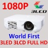 300inch Screen Home Theater Full HD 1080P Video Projector 3LCD 3LED 1920*1080