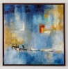 36X36 Inch Modern Abstract Framed Oil Painting Canvas Wall Art With hand-painted