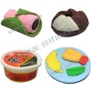 3d food shaped eraser