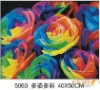 40*50cm decorative flower oil painting by numbers on canvas