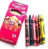 6 kid wax colors crayons