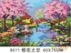 60*75cm Cherry love abstract scenery digital art oil painting by numbers set