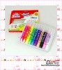 6pcs 22ml colored fabric paint pack in color paper box