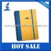 A4 spiral notepad with band,small notepad with pen,promotional spiral notepad