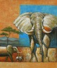 Abstract animal stretched canvas oil painting trading company