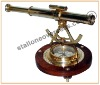 BRASS Compass WITH TELESCOPE AND SPIRIT LEVEL