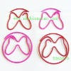 Beautiful animal-butterfly shape PET coated paper clip