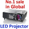 Best Home Theater Movie Cinema LCD LED Projector Support 1080P