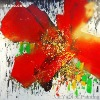 Big red flower for home decoration abstract art paintings