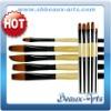 Black Golden Brush Set
