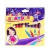 CR 7012B  12 colors wax crayon