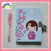 Cherry Blossom Journal with locks and a UV pen Set Notebook