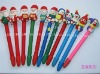 Christmas promotional polymer clay ball-point pen
