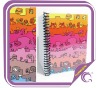 Colorful single sprial notebook