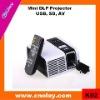 DLP mini pocket projector with usb