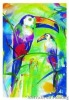 Decoration bird  for home decoration abstract art paintings