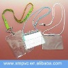 Drawstring vinyl badge holder in clear pvc material XYL-CC162