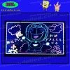 Fluorescent LED drawing board
