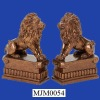 Glazed Lion Polyresin Book Holders