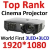 High Contrast Full HD 3LED 3LCD 3D Projector Office Home Business