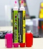 Highlighter made of plastic, customized logo availabel