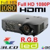 Home Theate Full HD 1080P LCD LED Projector Beamer 1920*1080