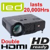 Home Theater 720P 1080P HDMI LED 20000H HDTV Video LCD Projector