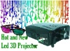 LED HD 1080 Projector LCD Home theater film 3D VGA HDMI USB HDD game DVD
