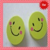 Lovely smile round shape tpr eraser