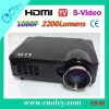Low Cost 2200Lumens LED Projector Built-in TV Tuner