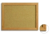 MDF wood frame cork pin board