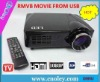 New arrival cheapest 1080p lcd projector with strong USB function