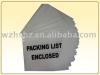 Packing List Enclosed Envelope