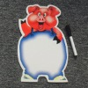 Pig soft magnet board with pen