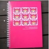 Pink doll white sprial notebook