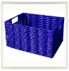 Pipe handmade woven basket with handle