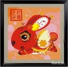 Rabbit DIY oil painting by numbers for wall deccoration(40*40cm)